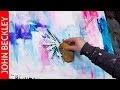 Peinture abstraite moderne - Démonstration à l'acrylique - Clouds