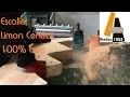 Escalier Limon Central 100% bois Hevea - 100% fabriqué à l'Atelier 1053