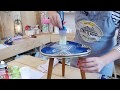 DIY Tissus Wax collé sur table vintage GNOOSS TV