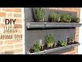 DIY | Jardin aromatique en gouttières