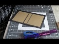 (francais) Scrapbooking tutoriel: comment fabriquer un couvert de livre ou album