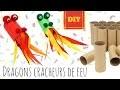 Fabriquer des dragons avec des rouleaux de papier toilette