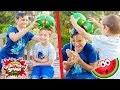 EXPLODING WATERMELON SMASH CHALLENGE - Swan & Néo arrosés par une pastèque !