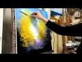 """Cours de peinture au couteau """"facile"""", la forêt en automne par Nelly Lestrade"""