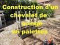 Chevalet de sciage en palettes construction pas à pas