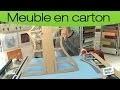 Fabriquer un meuble en carton : créer un gabarit