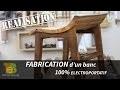 Travail du bois- FABRICATION d'un banc design 100% ÉLECTROPORTATIF.