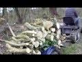 Tracteur Tondeuse Modifié à Chenille plus Renmorque de Bois