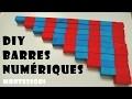 DIY   🔢 Les barres numériques rouges et bleues MONTESSORI   Fabrication   Mathématiques