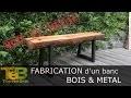 Bricolage rapide - Comment fabriquer un banc en bois et métal / How to make a wood and metal bench