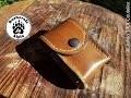 Fabrication : Sacoche cuir Bushcraft