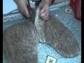 fabrication chausson feutre mongol