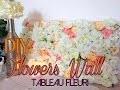 DIY: flowers wall ~ Tableau fleuri lumineux