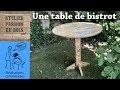 TABLE DE BISTROT EN PALETTE (Dedicace aux rageux)