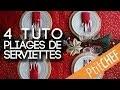 Tutoriel déco : 4 pliages de serviettes pour votre table de Noël - Ptitchef.com