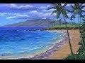 Comment peindre la plage tropicale a l'aide de l'acrylique sur la toile. Video rapide.