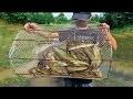 Drole - Incroyable comment faire piège pour attraper le poisson     Pêche traditionnelle au khmer  