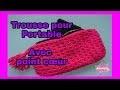 DIY.Trousse  Point Coeur Avec Fermeture à Glissière // Knitted Zipper Bag