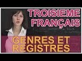 Genres et registres - Francais 3e - Les Bons Profs