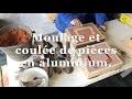Moulage et couleÌ�e pièces en aluminium.