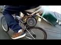 teste vélo électrique pas chers route mouillé