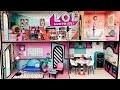 Maison Poupées LOL Surprise Piscine LOL Surprise Giant Doll House Blind Bags Moving Truck Pool