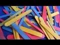 Comment faire de bâtonnets colorés