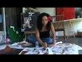 Acrylique et papiers - FR