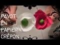 Activité manuelle: Fleur en papier crépon: Le pavot