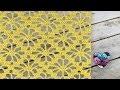 Point fleurs ajoure� crochet /Punto flores caladas tejido a crochet