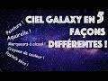 Comment faire un CIEL GALAXY avec 5 matériaux DIFFÉRENTS !