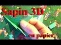 Fabriquer un sapin 3D en papier | Bricolage de Noël avec les enfants