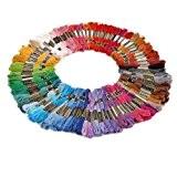 100 échevettes de Fil pour broderie point de croix tricotage crochet multicolores