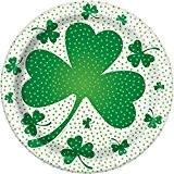 18cm LUCKY Trèfle St Patrick de Jour Assiettes, Lot de 8