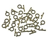 20 Ensembles Basculer Les Résultats De Bijoux Connecteur Bronze Collier Bracelet Fermoir