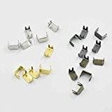 200pcs Fermeture Éclair Stopers Top Bas Bloque # 3# 5pour spirale Slider inférieur Rescue Kit de réparation Aluminium Nickel Or ...