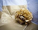 25 feuilles de papier de soie Couleur OR, 50x75cm, 18 grs