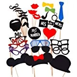 31PCS Props coloré sur un bâton faveur Moustache Photo Booth Party Fun anniversaire de mariage de Noël