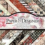 40pcs 17.8cm x 17.8cm DIY Craft travail Motif papier Pad papier cartonné Pad papier photo décoratif Fond Carte Design Vintage ...
