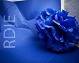 48 feuilles de papier de soie Bleu roy, 50x75cm, 18 grs