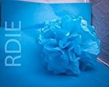 48 feuilles de papier de soie Bleu Turquoise, 50x75cm, 18 grs