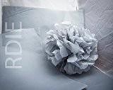 48 feuilles de papier de soie Gris Clair, 50x75cm, 18 grs