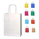 5 Blanc Petits sacs en papier avec poignées
