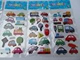 5 petites feuilles de voitures, bus, circulation, camion, van Autocollants pour enfants garçons, loisirs créatifs, ferraille livres, fabrication cartes, cadeau ...