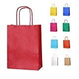 5 Rouge Petits sacs en papier avec poignées