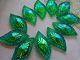 5015* * * * * * * * 30mm navette forme strass cristal à coudre sur résine vert Gem cabochons ...