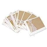5pcs Faire-part Cartes d'Invitation de Mariage Papier Dentelle Avec Enveloppe