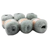 6écheveaux lisse et chaud Angola Mohair en peluche en cachemire laine fil à tricoter 300g
