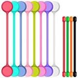 8 Attaches Magnétiques avec 4 Attaches de Câbles, SENHAI Enrouleurs d'aimant Lien Bandes pour la Rangement de Câbles Attacher Sacs ...