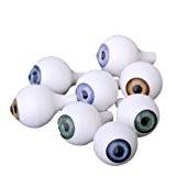 8 Pcs Yeux de Poupée Acryliques Ronds Globes Oculaires Props Halloween 18mm